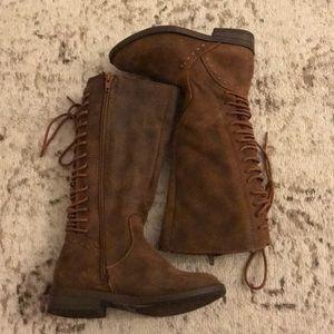 Kids toddler size 12 brown sugar brand boots